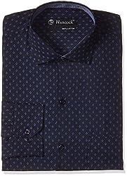 Hancock Men's Formal Shirt (9323Navy_40)