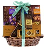 Wine.com Happy Birthday Gift Basket Containing Godiva Chocolate