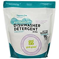 Grab Green Automatic Dishwashing Detergent Powder, Fragrance Free, 80 Loads