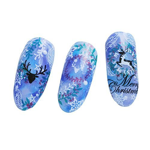 Born Pretty 1 Pc 3D Sticker Ultra-Mince Nail Art Noël Deer Sticker Autocollant Déco Ongles