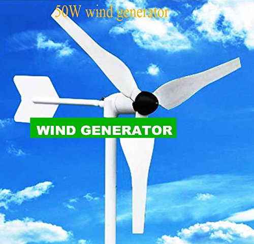 GOWE 50w build in rectifier DC 12v or 24v output little wind generator sets easy to moving less than 3kg good wind turbine design