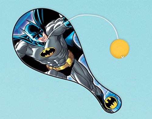 Amscan Awesome Batman Paddle Ball (1 Piece), Blue, 8 3/4 x 4""