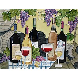 "11""x14"" Art Tile - Wines with Graps"