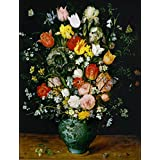 The Museum Outlet - Bouquet Of Flowers In A Blue Vase - Poster Print Online (A3 Poster)