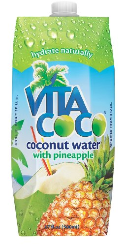 Vita Coco Coconut Water  Pineapple, 17-Ounce