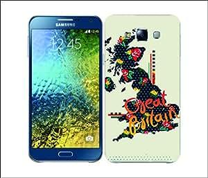 Galaxy Printed 2951 TrendyMaps GreatBritain Hard Cover for Samsung E7