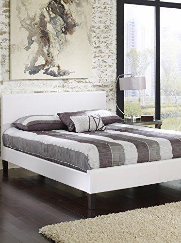 MaxRest Quincy Leather Platform Bed