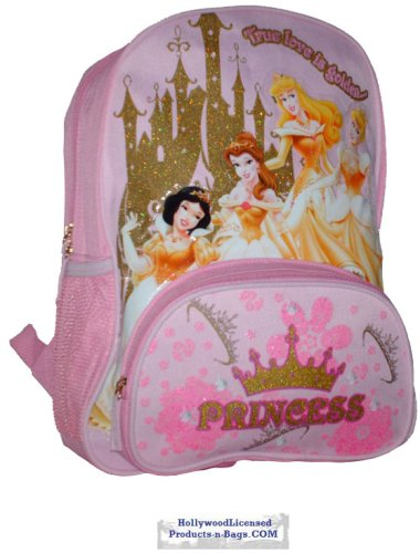 Princess in Gold n Pink Large Backpack - 1