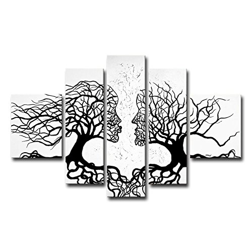 fly-spray-5-piece-100-hand-painted-oil-paintings-panels-stretched-framed-ready-hang-flora-plant-tree