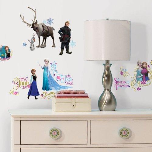 Walt Disney Animation Series Frozen Glitter Wall Decal Stickers