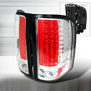 07 08 chevy silverado led tail lights chrome pair. Black Bedroom Furniture Sets. Home Design Ideas