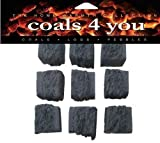 10 LARGE GAS FIRE REPLACEMENT CERAMIC COALS