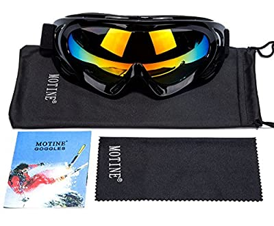 MOTINE Outdoor Sports Ski Goggles,UV Protection Windproof Ski Glasses for CS Army Tactical Military,Snowmobile,Bicycle,Motorcycle