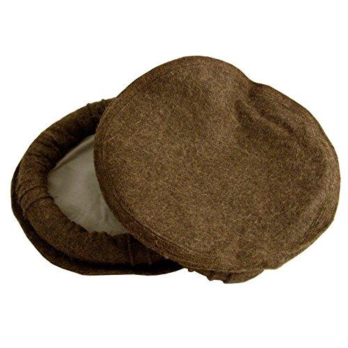 Afghan Pakul Chitrali 100% Wool Cap Pakol Peshawari Handmade Fine Quality  Hat (Chocolate Brown) f4e2e519537