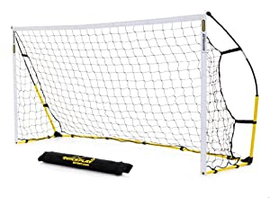 Kickster Academy Ultra Portable Football Goal - Yellow, 8 x 5 ft