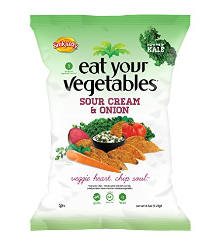 Eat Your Vegetables, Sour Cream And Onion Veggie Chips, 4.5-Ounce (Pack Of 6) front-1053690