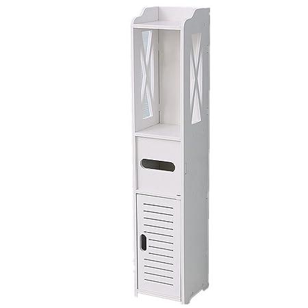 ZWZT Tipo di bagno deposito Mensola Rack angolo organizzatore antiruggine terra prova Shelf Storage
