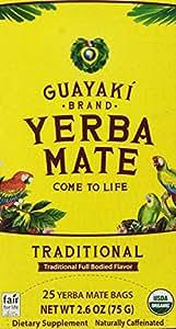 Guayaki Yerba Mate Organic Tea, 25-Count, 2.6oz