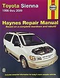 HAYNES REPAIR MANUAL for TOYOTA SIENNA NUMBER 92090