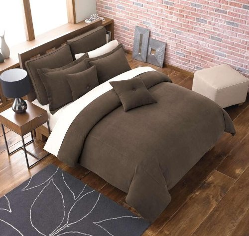 3PC Stockton Brown down alternative Comforter
