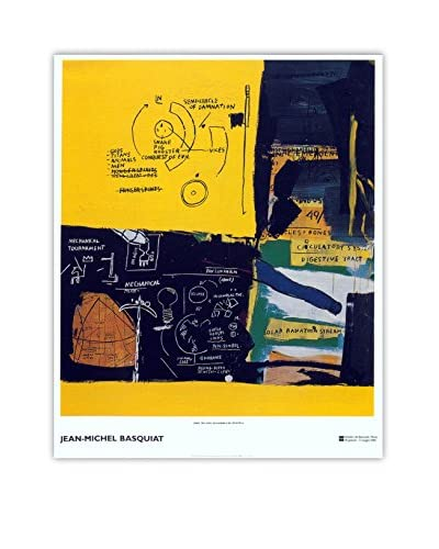 "Jean-Michel Basquiat ""Untitled"" 2002 Unframed Poster, Yellow/Black"