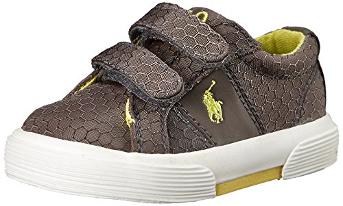 Polo Ralph Lauren Kids Felixstow EZ Fashion Sneaker (Toddler), Grey Ripstop, 7.5 M US Toddler