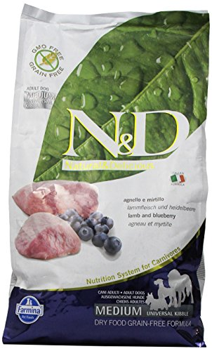 Farmina (Russo Mangimi) - Natural & Delicious Grain Free Adult Medium con Agnello e Mirtillo 1 Sacco 2,50 kg