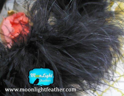 Feather Boa Black Turkey Marabou 1 yard per pack