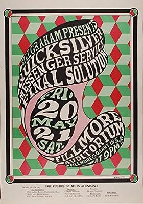 Quicksilver Messenger Service 1966 Concert Poster, Fillmore Auditorium *Mint Condition* (BG-07)