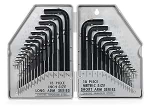 Generic 30 Pc Allen Wrench Set Sae Mm Amazon Com