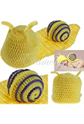 MECO Baby Infant Snail Crochet Costume Photo Photography Prop for 0-6 months Newborn Cute Lovely