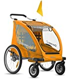 Joovy Cocoonx2 Double Enclosed Stroller, Orangie