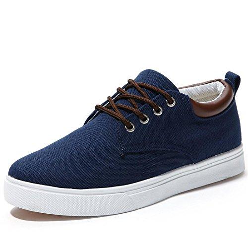 jeansian Moda Casuale Sneaker Scarpe Calzature Sportive Scarpe da Uomo Blue 9.5 US SHB004