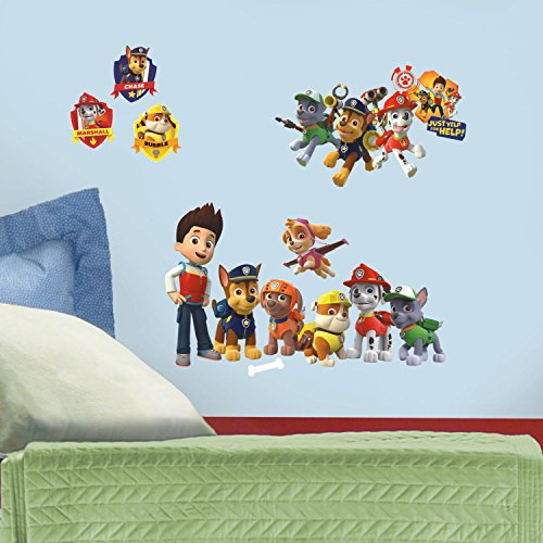 RoomMates RMK2640SCS Paw Patrol Peel and Stick Wall Decals - 1