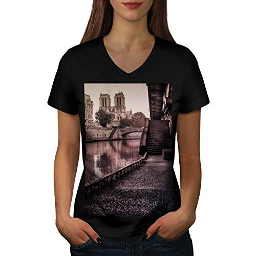 old-town-england-united-kingdom-women-new-black-s-2xl-v-neck-t-shirt-wellcoda
