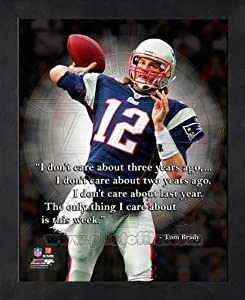 Tom Brady New England Patriots Pro Quotes Framed 8x10 Photo