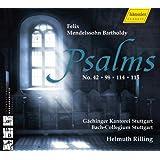 メンデルスゾーン:詩篇集(第42番、98番、114番、115番) (Mendelssohn : Psalms No. 42, 98, 114, 115 / Rilling)