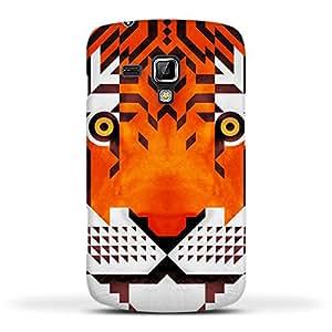 FUNKYLICIOUS Galaxy S Duos 2 S7582 Back Cover Triangle Tiger Design (Multicolour)