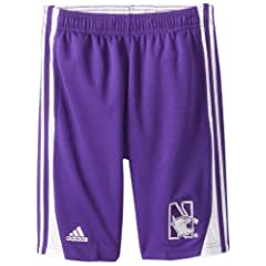 Buy NCAA Northwestern Wildcats 3-Stripe Shorts by adidas
