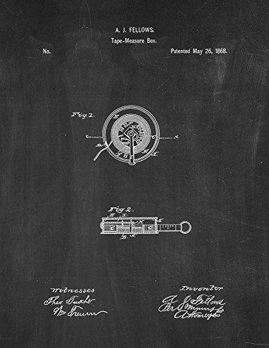 Tape Measure Box Patent Art Print Chalkboard Poster (24