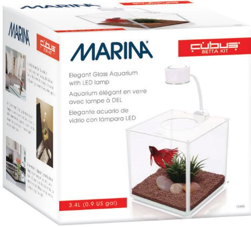 Marina CUBUS Glass Betta Kit (Betta Fish Cube compare prices)
