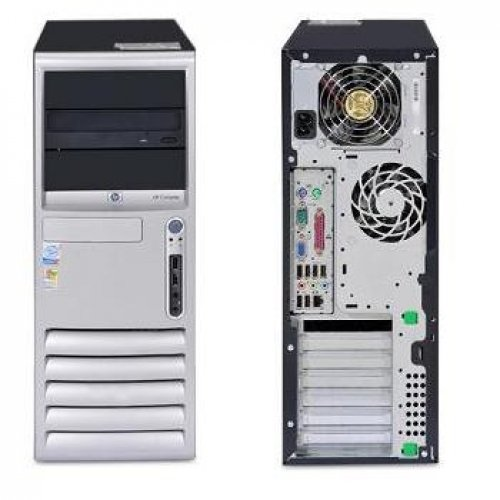 HP COMPAQ Tower Desktop PC Intel Pentium 4 HT 2.8-3.0 Ghz - 1GB Ram - 160GB Hard Drive - DVDROM/CDROM - Windows XP Pro SP3 (Genuine) RapSols