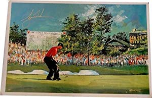 Tiger Woods Signed Autographed Canvas Print 29x44 Gorgeous! Limited to 25 - Upper... by Sports Memorabilia