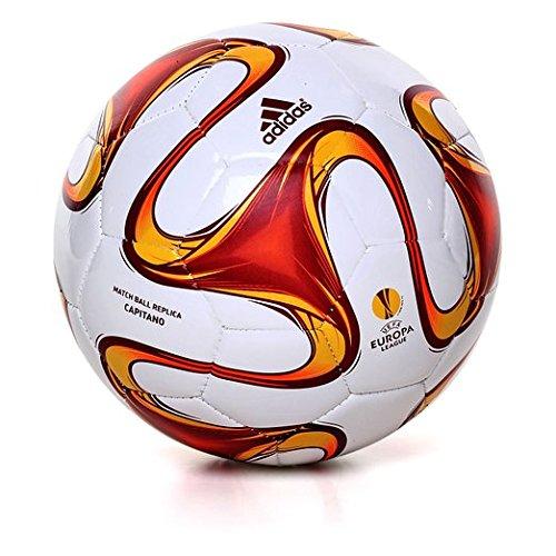 Adidas Uefa Capitano Pallone Da Calcio Europa League 2014/2015 White-Infrared-Neon Orange - 5
