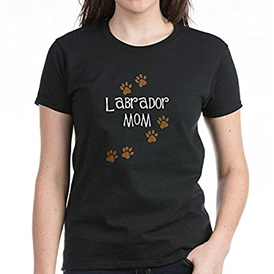 CafePress Labrador Mom Women's Dark T-Shirt