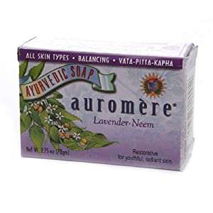 Auromere Bar Soap, Ayurvedic Lavender Neem, 2.75 Ounce
