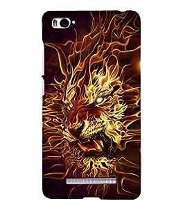 EPICCASE Burnung Tiger Mobile Back Case Cover For Xiaomi Redmi Mi4i (Designer Case)