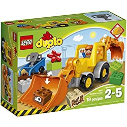LEGO DUPLO Town 10811 Backhoe Loader Building Kit (19 Piece)