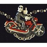 Bones Skeleton Phantom Ghost Motorcycle Bike Rider Mardi Gras Bead Necklace Spring Break Cajun Carnival Festival...
