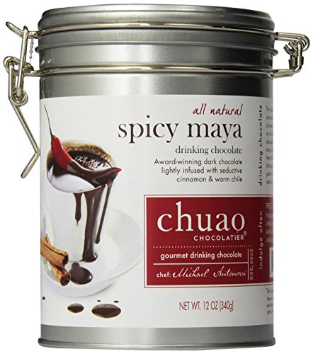 Chuao Gourmet Drinking Chocolate 12 Oz. Tin Can (Spicy Maya) (Spicy Hot Chocolate compare prices)